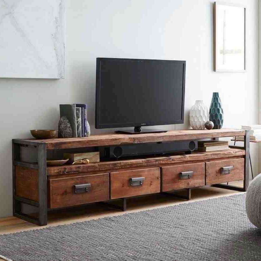 Country Loft Industrial Style Retro Solid Wood Tv Cabinet Audio With Industrial Tv Cabinets (View 7 of 20)