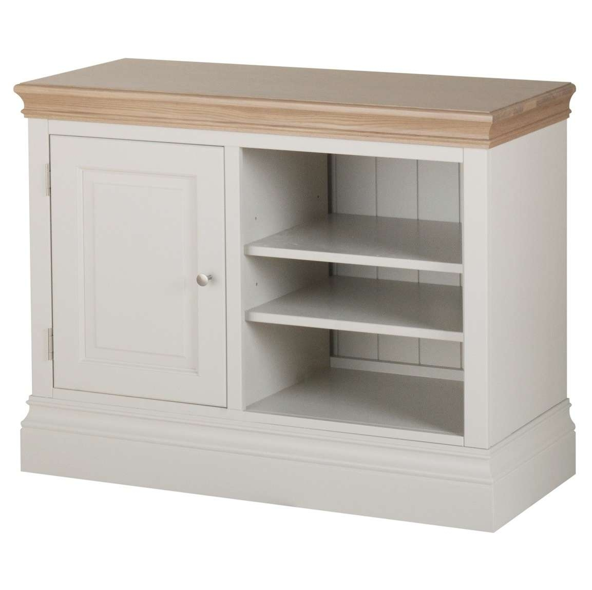 Country Oak And Painted Small Tv Cabinet | Oak Furniture Uk For Country Tv Stands (View 4 of 15)