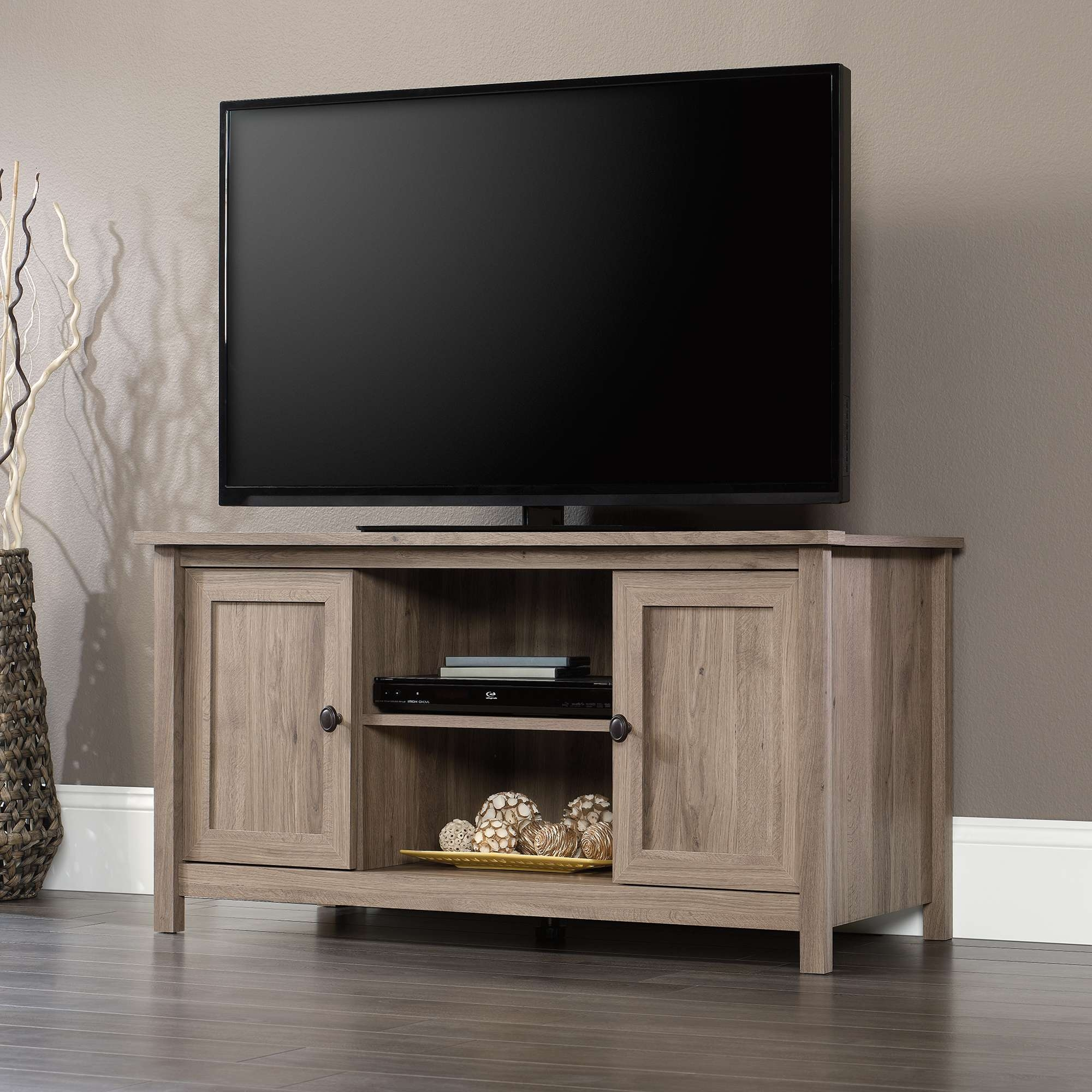 County Line | Tv Stand | 417772 | Sauder Intended For Oak Tv Stands Furniture (View 8 of 15)