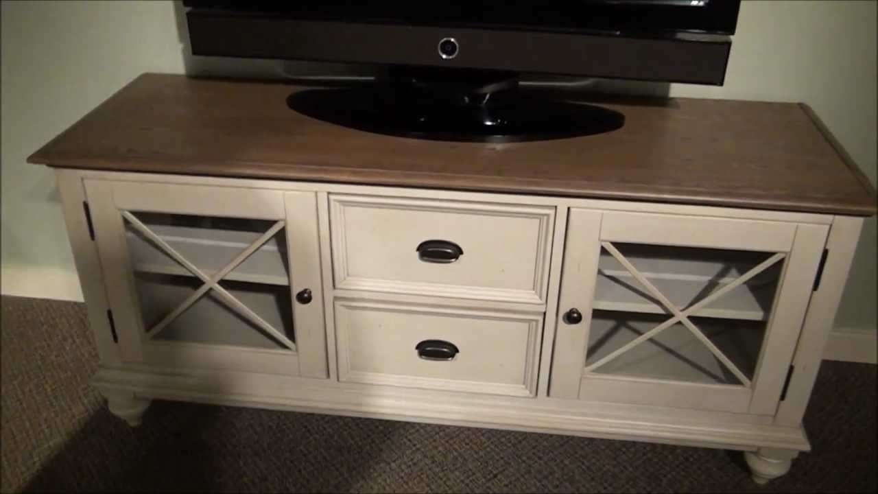 Coventry Tv Stand In Two Tone Finishriverside Furniture – Youtube Intended For Painted Tv Stands (View 4 of 15)