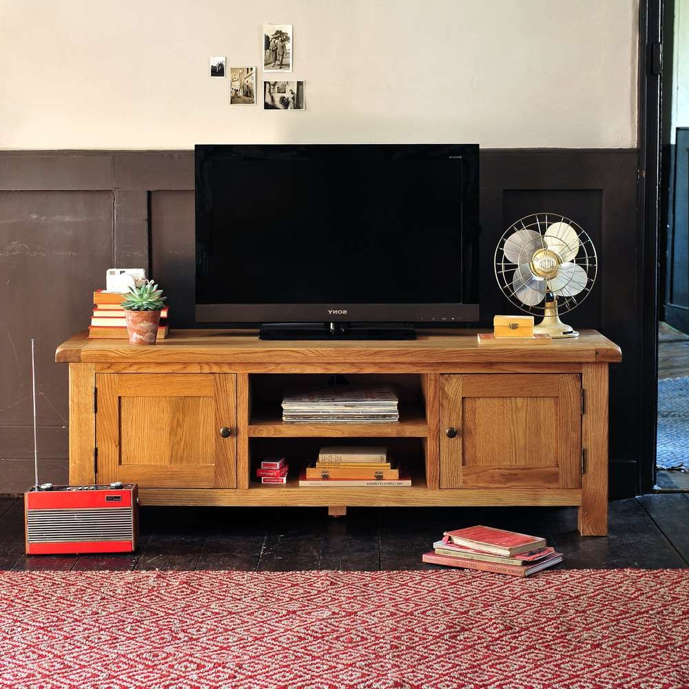 Creative Oxfordshire In Ample Storage Solid Wood Tv Stand Together For Oak Tv Cabinets For Flat Screens (View 10 of 20)