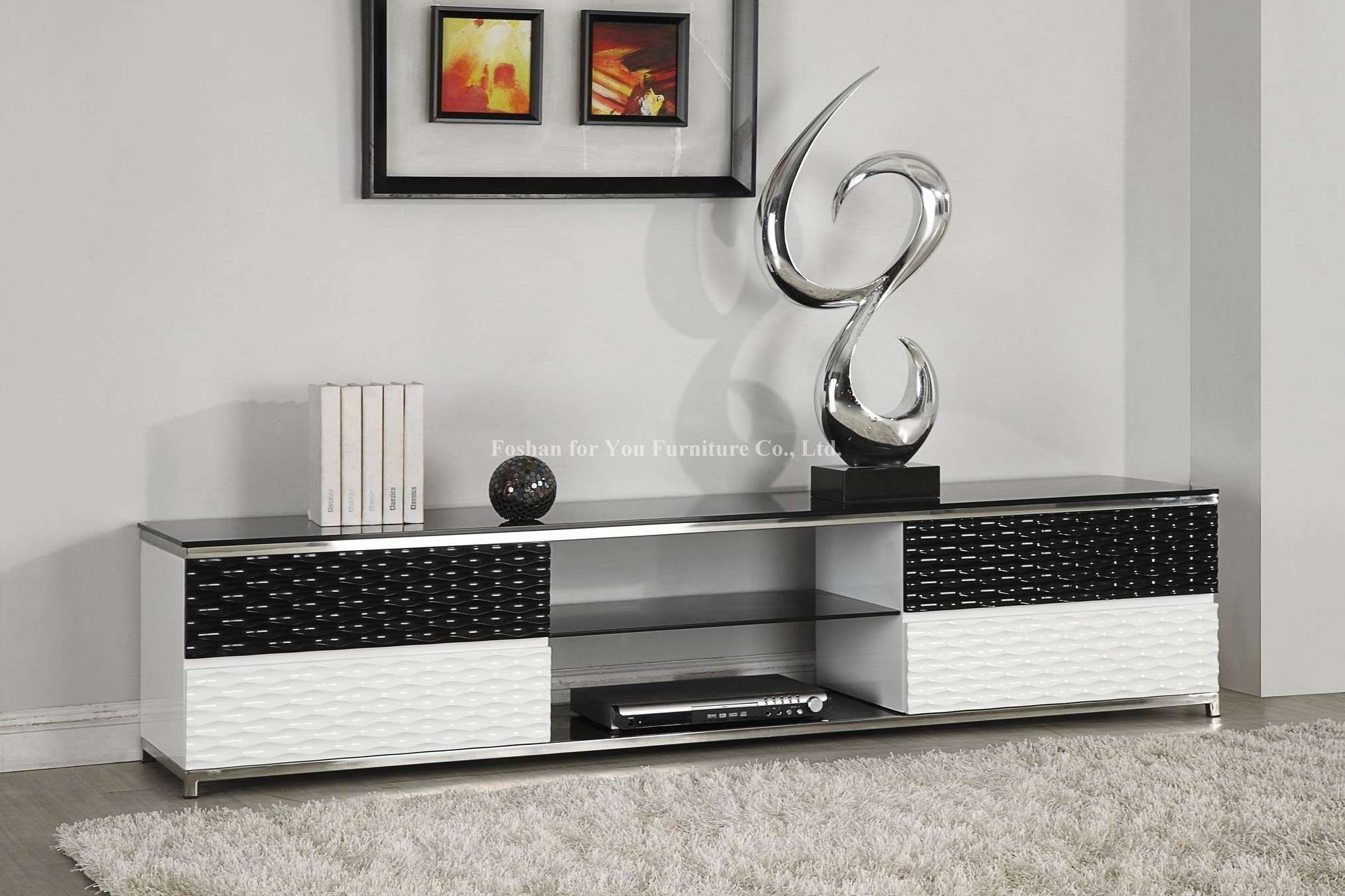 Creative Tv Stand Ideas Black White Wood Modern Tv Stands Safavieh For Single Tv Stands (View 2 of 15)