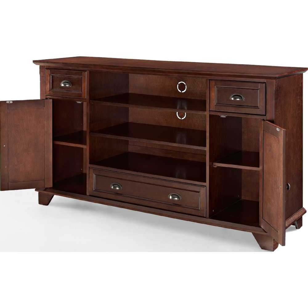 "Crosley Cf100660 Ma Palmetto 60"" Full Size Tv Stand In Mahogany W With Regard To Mahogany Tv Stands (View 9 of 15)"