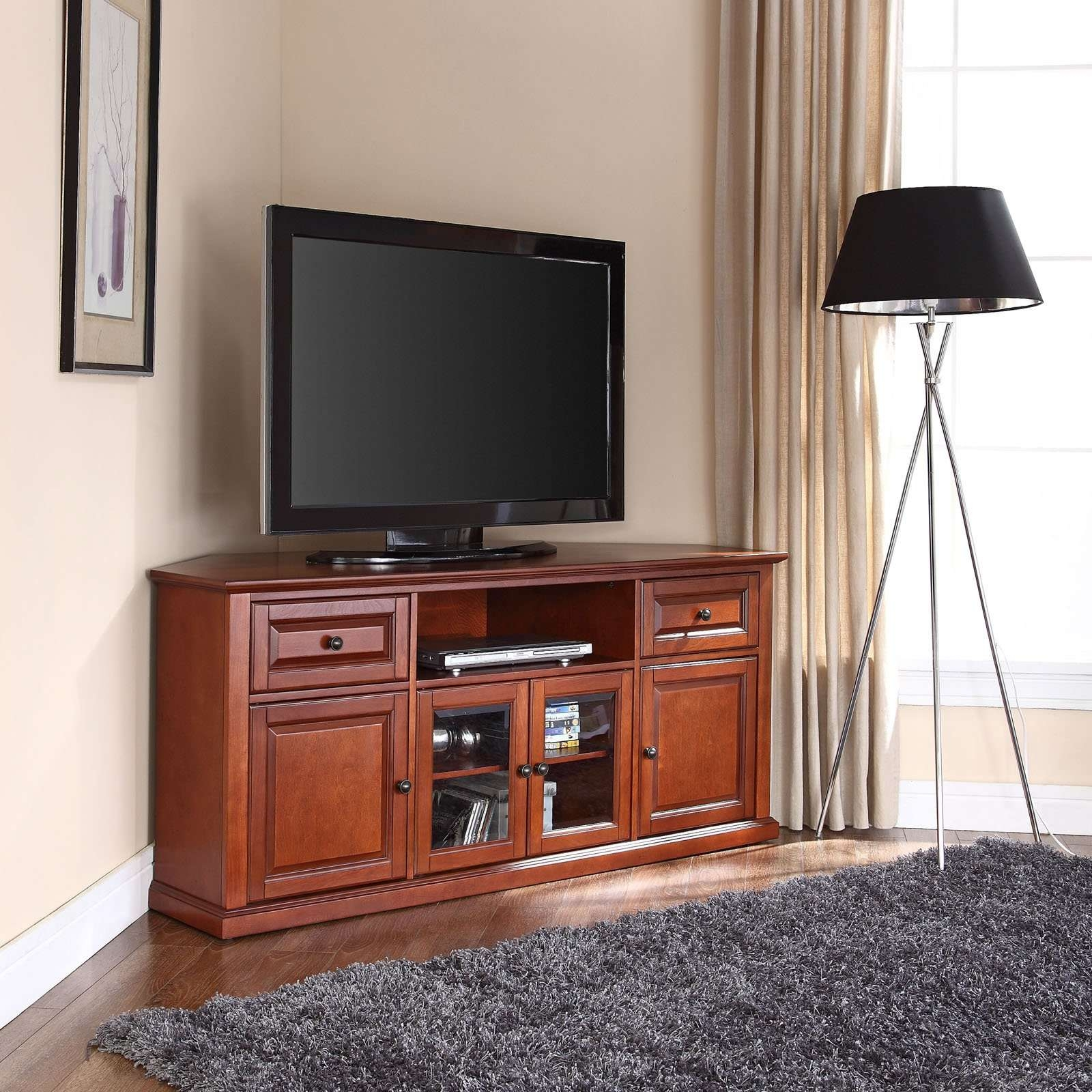 """Crosley Furniture Corner Tv Stand For Tvs Up To 60"""" – Walmart For Mahogany Tv Stands (View 15 of 15)"""