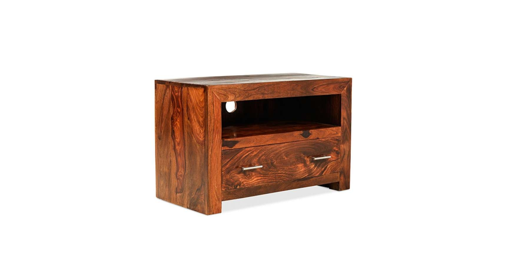 Cuba Sheesham Square Tv Stand – Lifestyle Furniture Uk Throughout Square Tv Stands (View 7 of 15)