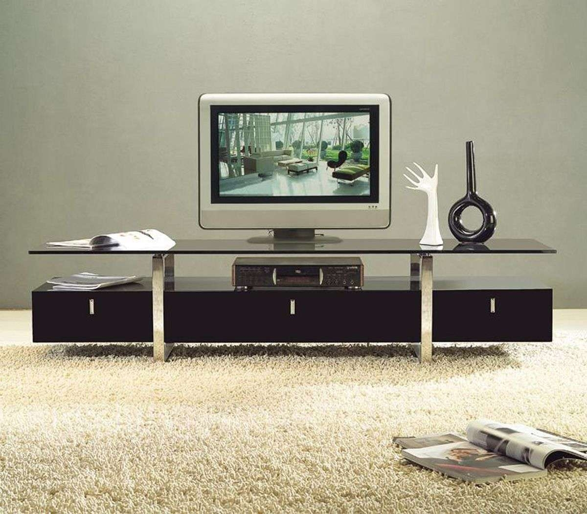 Cuisine: Living Room Contemporary Tv Stand Design Ideas For Living Inside Modern Plasma Tv Stands (View 3 of 15)