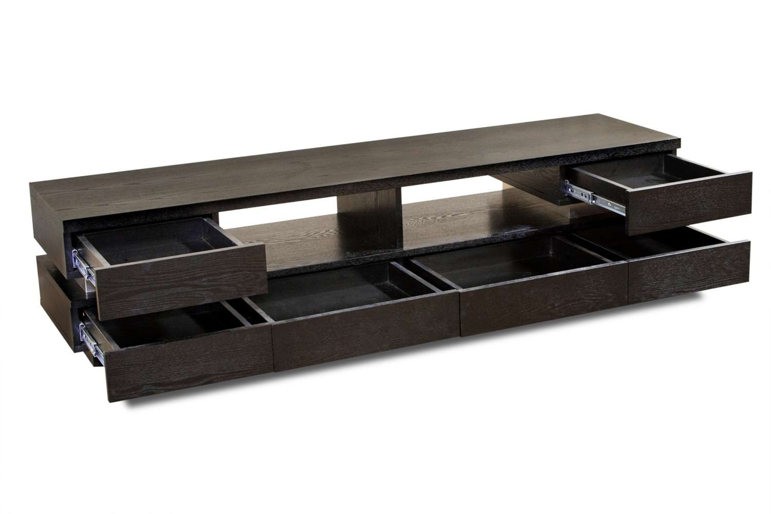 Custom Low Profile Tv Console Design With Drawer And Storage For Throughout Modern Low Tv Stands (View 6 of 20)