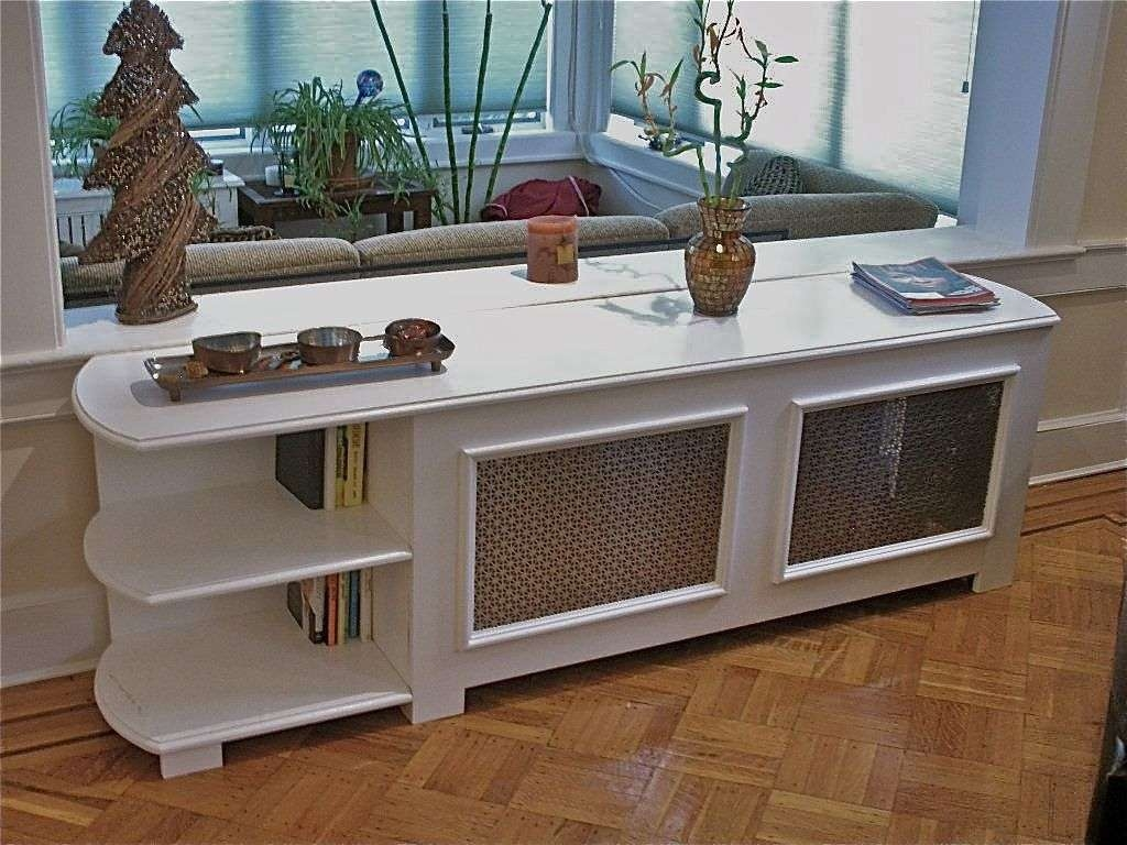Custom Radiator Cover With Bookcasehammer Time Studio's Pertaining To Radiator Cover Tv Stands (View 5 of 15)