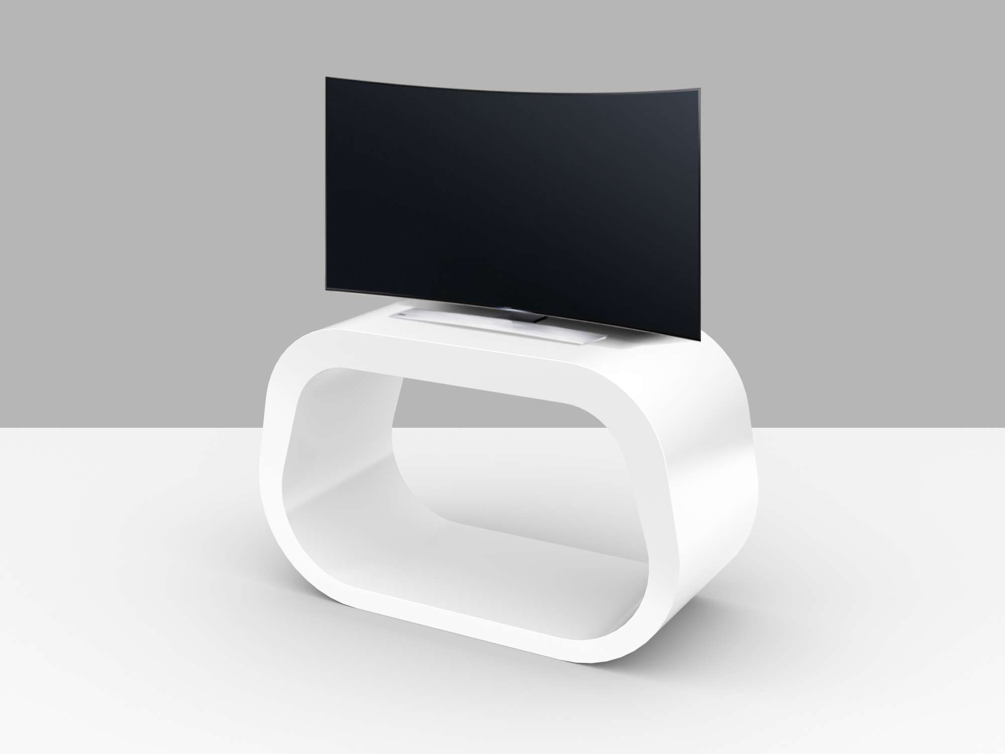 Custom Tv Stands | Custom Made Media Units – Zespoke Intended For Oval White Tv Stands (View 9 of 20)