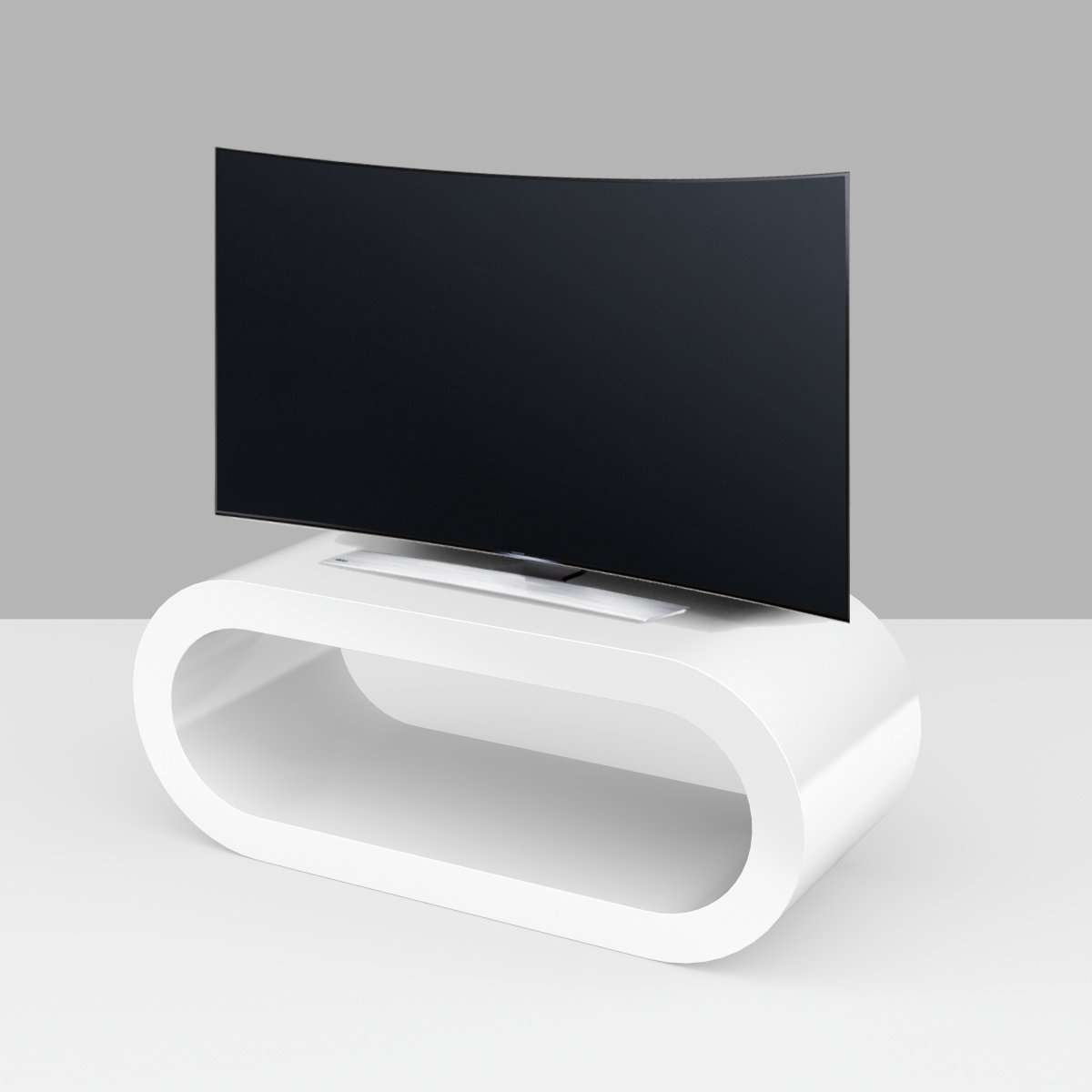Custom Tv Stands | Custom Made Media Units – Zespoke Intended For White Gloss Oval Tv Stands (View 4 of 20)