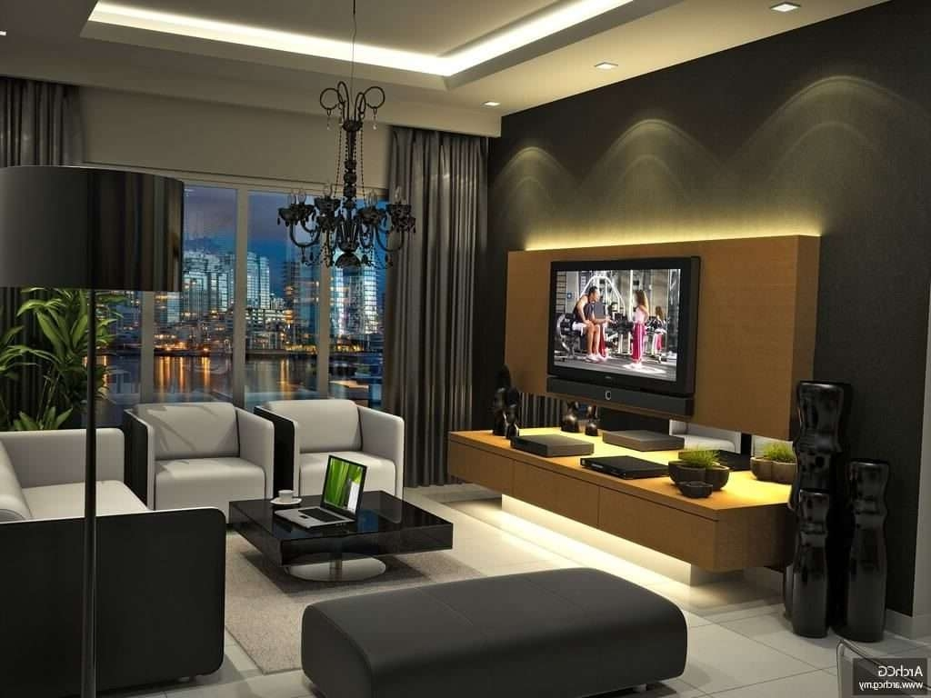 Cute Living Room Ideas For Cheapinterior Luxury Decorating Pertaining To Illuminated Tv Stands (View 6 of 20)