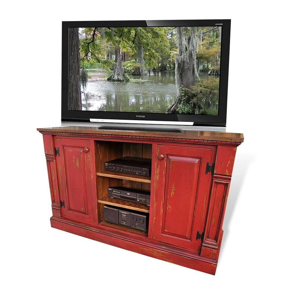 Cypress Tv Stands & Entertainment Centers Inside Rustic Tv Stands For Sale (View 3 of 20)