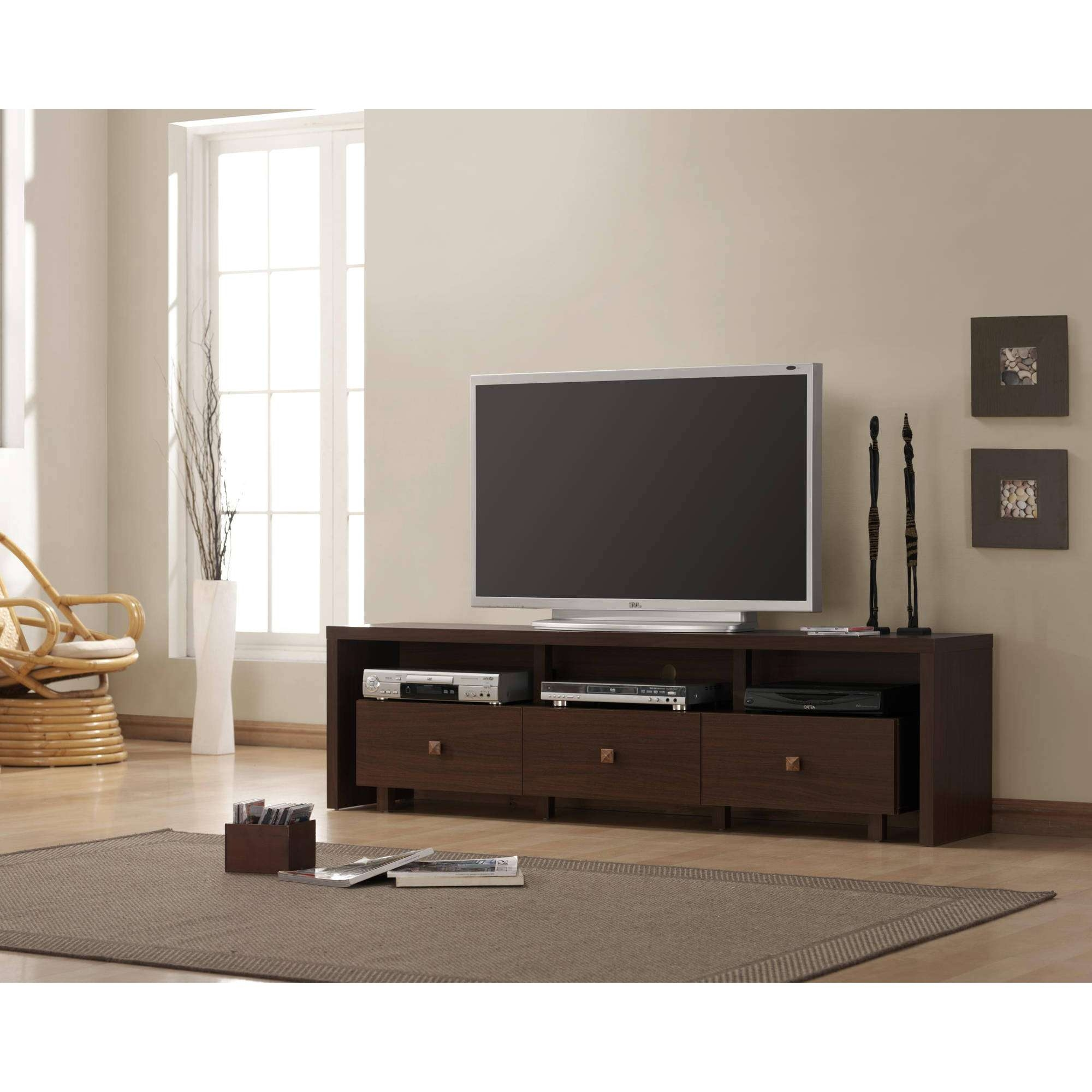Dainty Tv Stand Entertainment Console Then Shelves Tv Stand Grey Intended For Long Tv Cabinets Furniture (View 9 of 20)