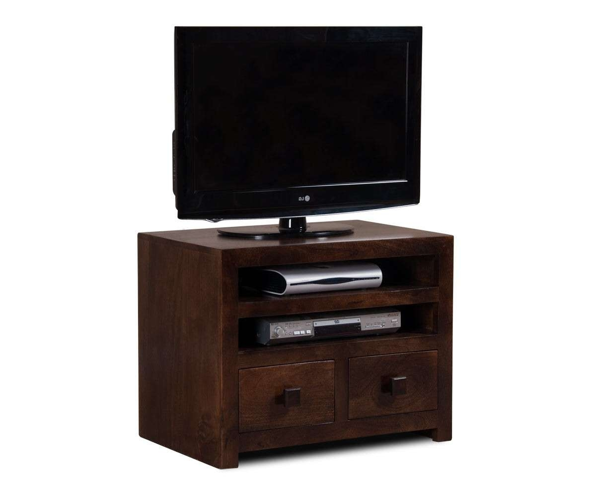 Dakota Dark Mango Small Tv Unit   Casa Bella Furniture Uk Throughout Dark Wood Tv Cabinets (View 6 of 20)