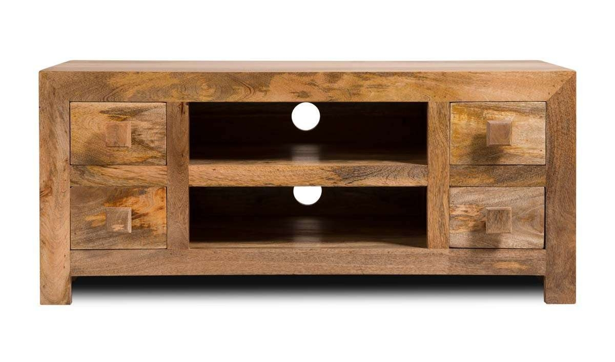 Dakota Light Mango Low Tv Unit   Casa Bella Furniture Uk Regarding Mango Wood Tv Cabinets (View 8 of 20)