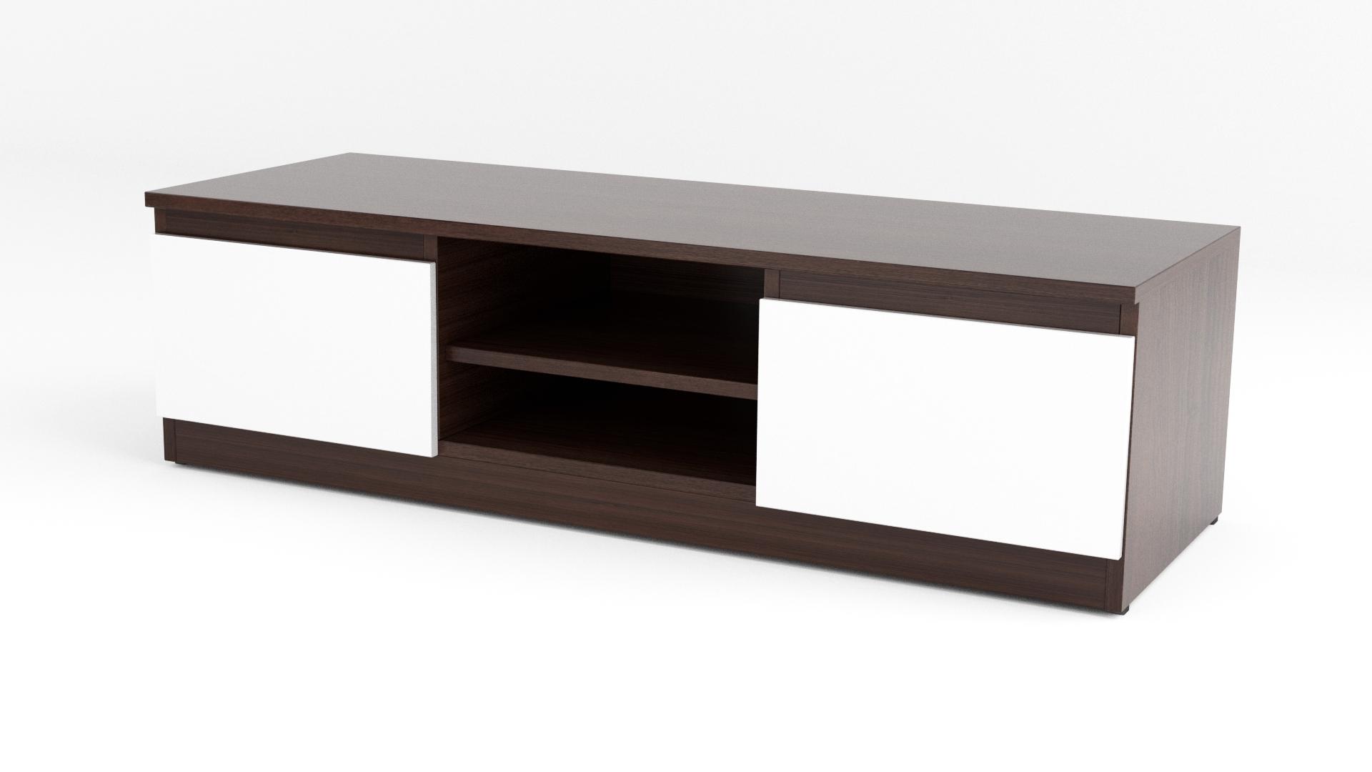 Dark Brown/white Matt Modern Tv Cabinet – Code 35 With Wenge Tv Cabinets (View 4 of 20)
