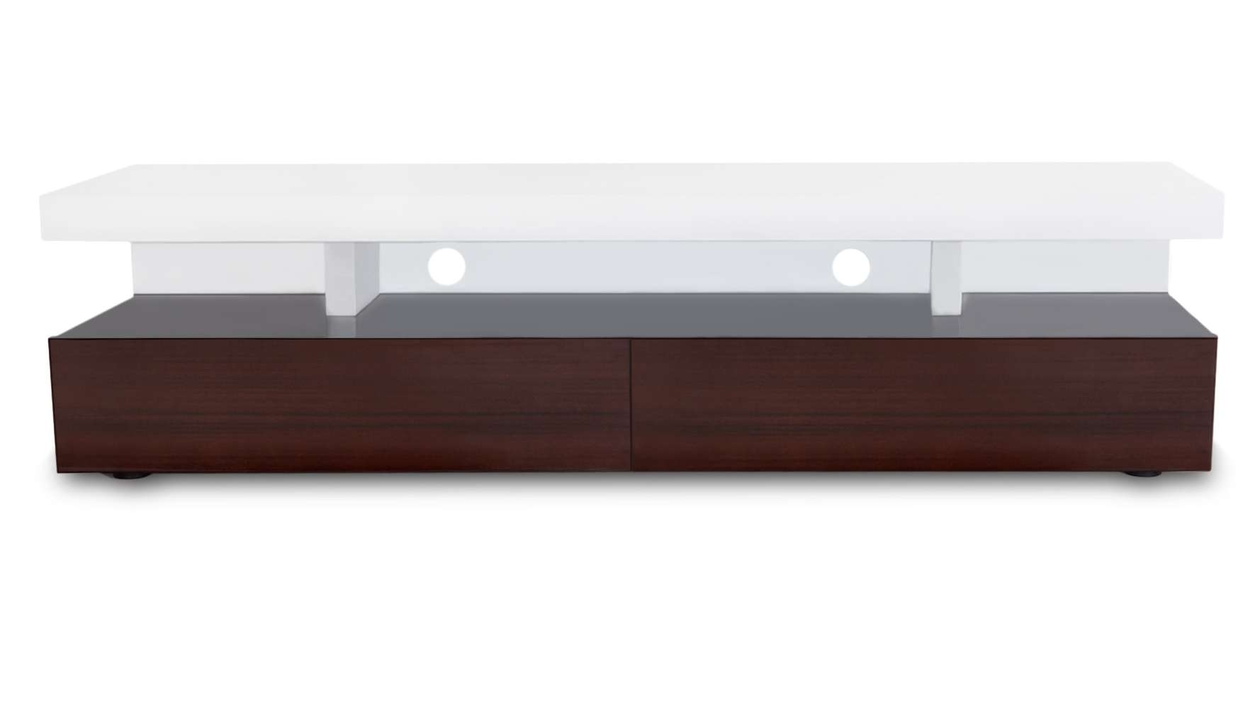 Dark Wood And White High Gloss Lacquer Mcintosh 71 Inch Tv Stand With Dark Wood Tv Stands (View 5 of 15)