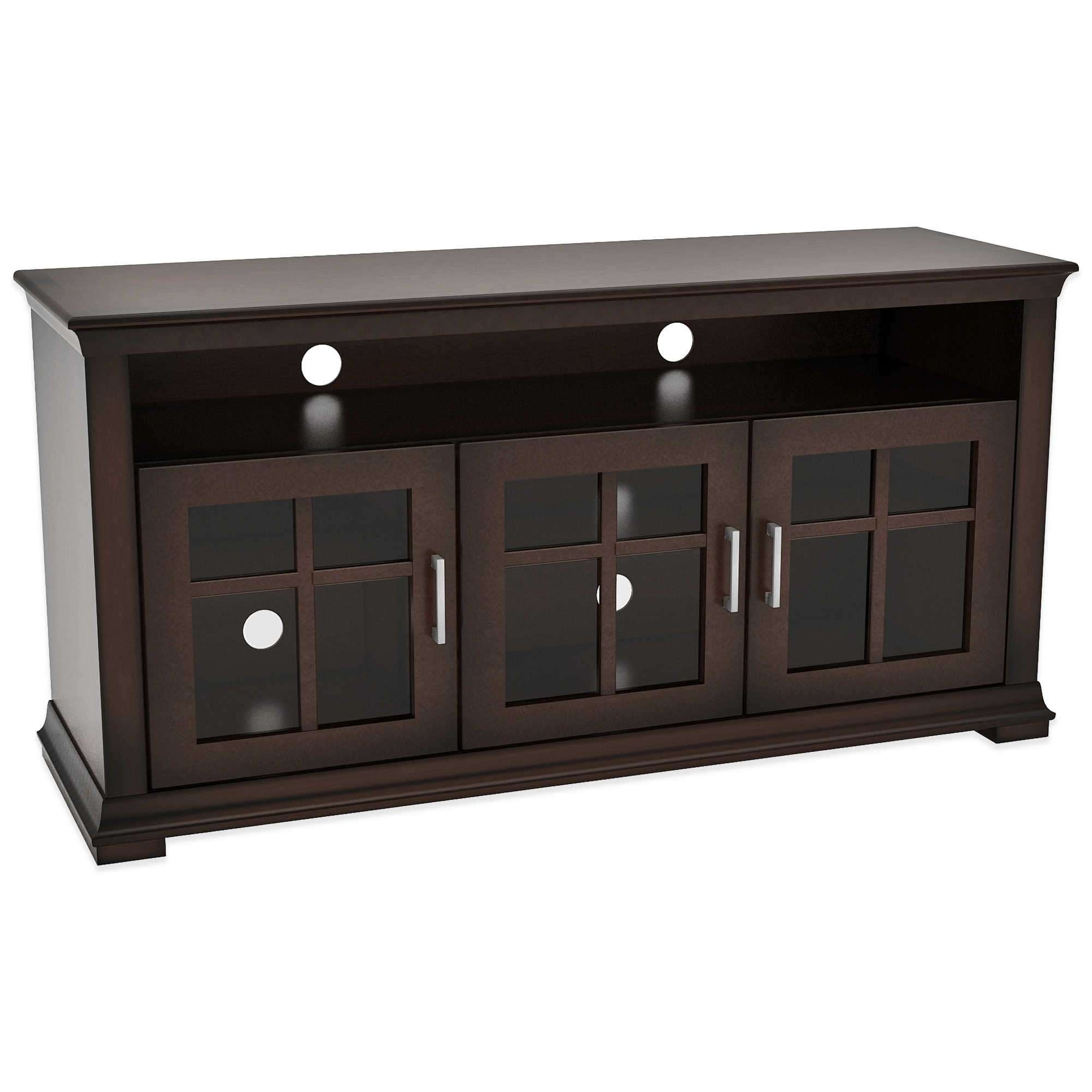 Dark Wood Tv Cabinet With Doors | Eo Furniture Regarding Dark Wood Tv Stands (View 6 of 15)