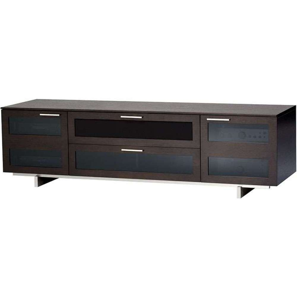 Dark Wooden Rustic Retro Media System Low Storage Table Within Expresso Tv Stands (View 15 of 15)