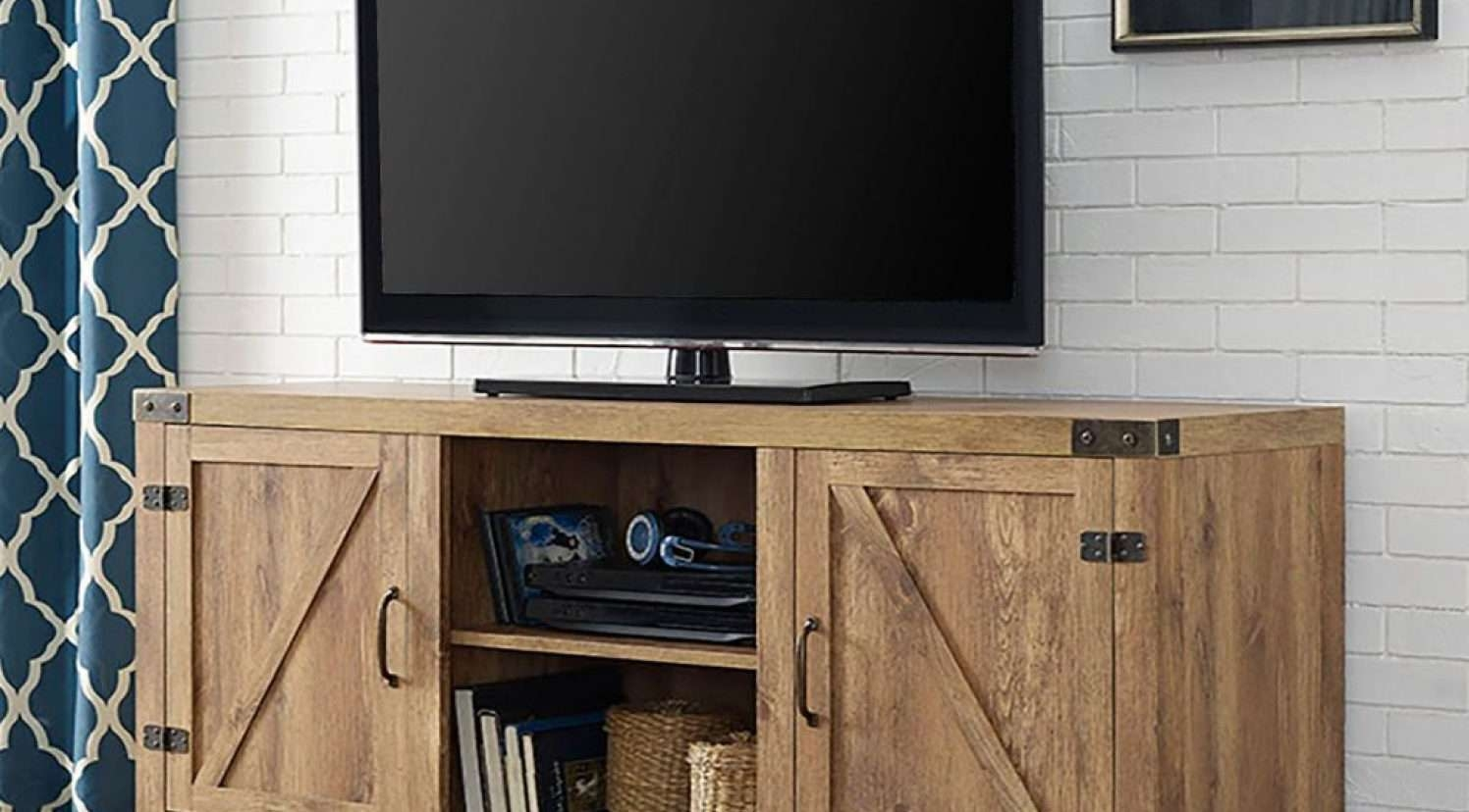 Dazzle Grey Reclaimed Wood Tv Stand Tags : Grey Wood Tv Stands Pertaining To Very Tall Tv Stands (View 5 of 15)