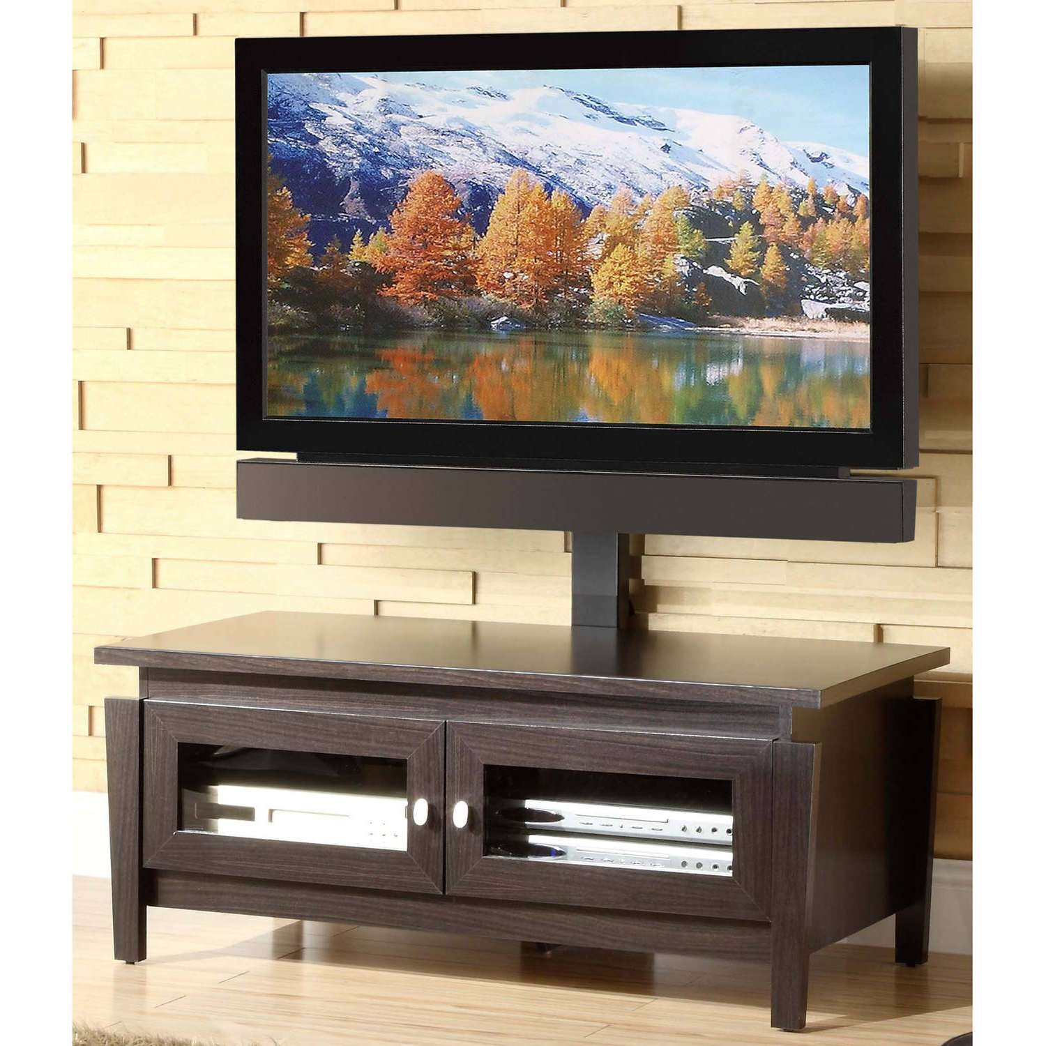 Decorating: Whalen Flat Panel Tv Console | Whalen Swivel Tv Stand Regarding Wood Tv Stands With Swivel Mount (View 2 of 15)