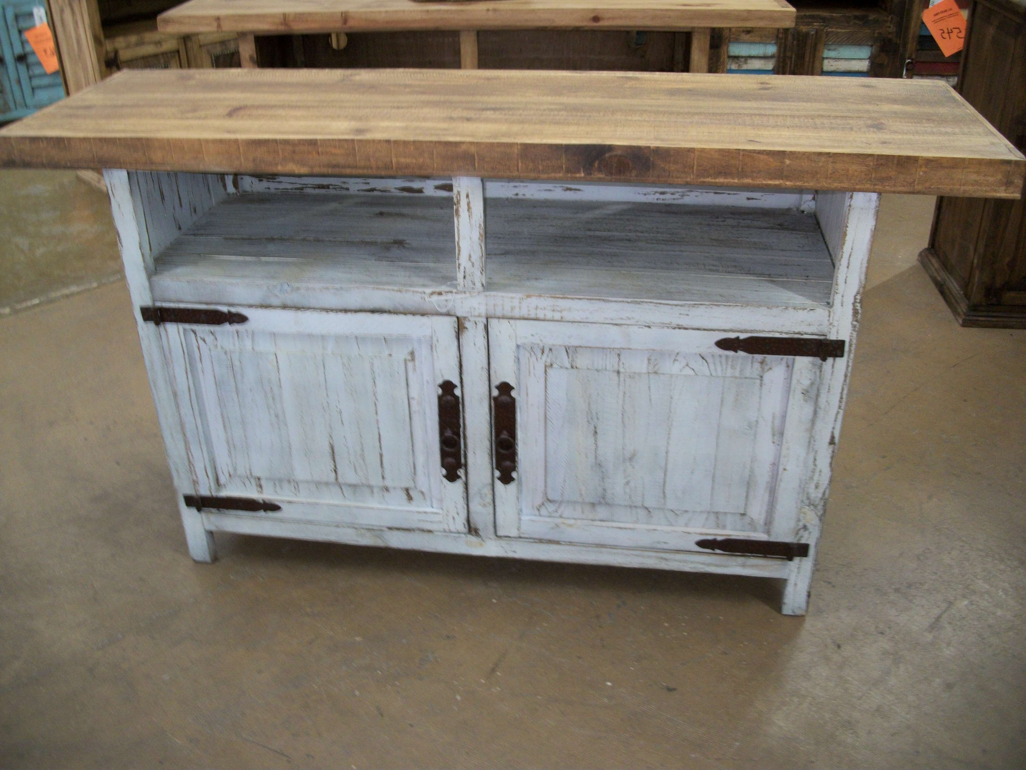 Distressed Painted Tv Stands (View 3 of 20)