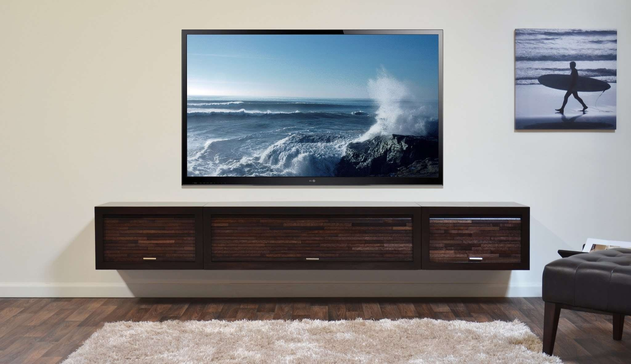 Diy Modern Tv Stand, Tv Stand Project On Pinterest – Youtube Regarding Modern Tv Stands With Mount (View 4 of 15)