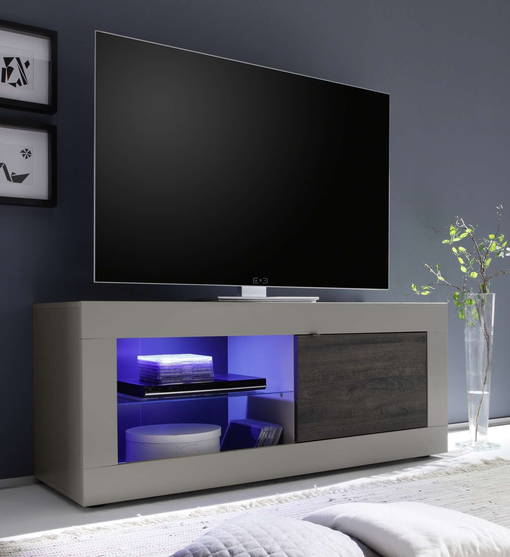 Dolcevita Matt Beige Tv Stand – Tv Stands – Sena Home Furniture With Regard To Funky Tv Stands (View 3 of 15)