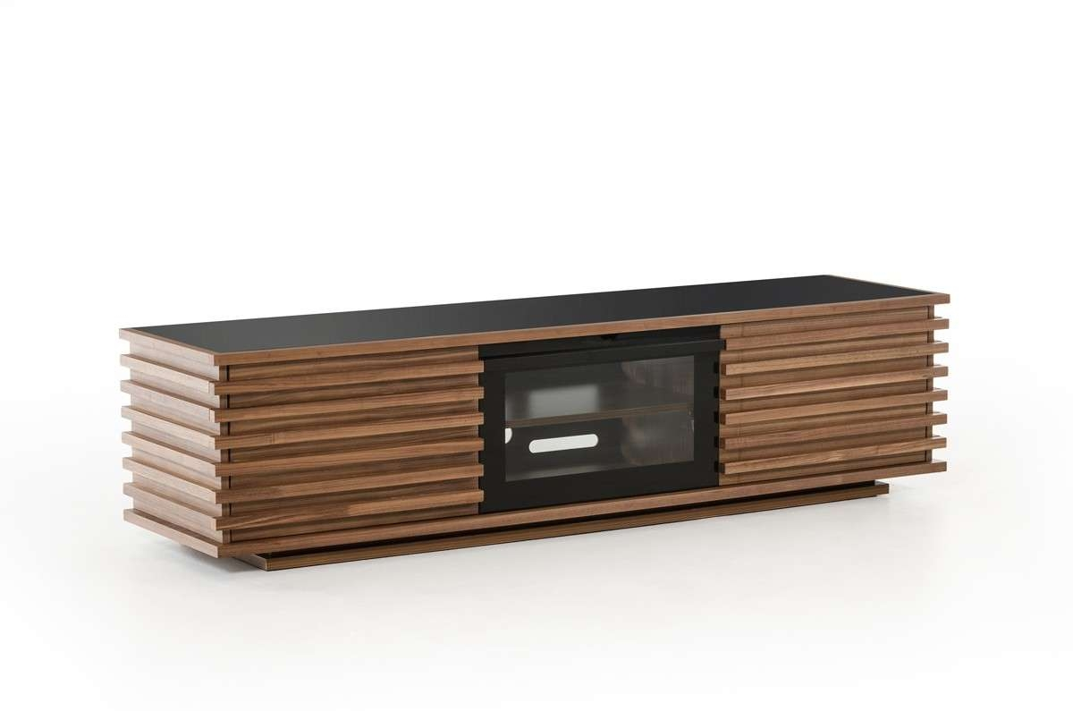 Domus Fiorano Contemporary Walnut Tv Stand Intended For Walnut Tv Stands (View 8 of 15)