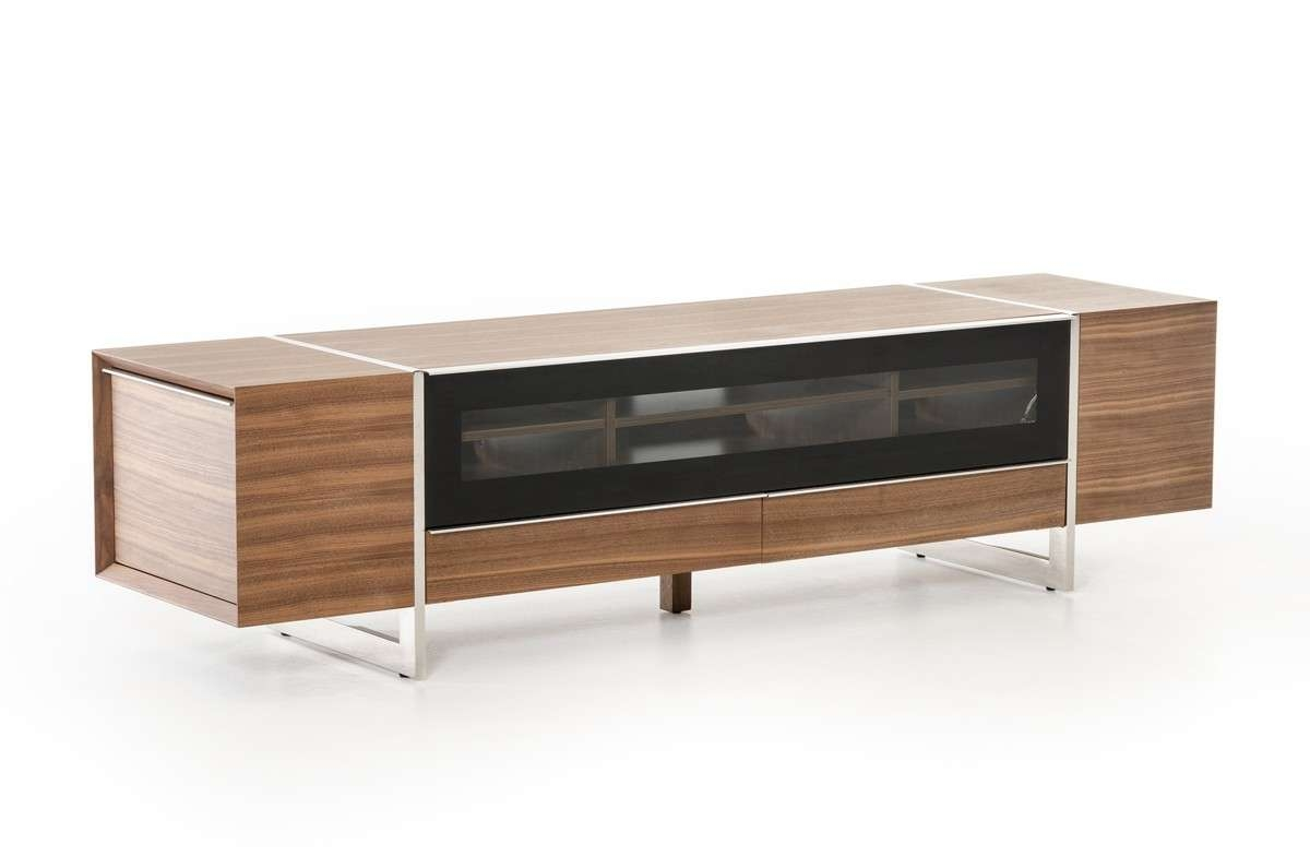 Domus Lorena Modern Walnut Tv Stand Pertaining To Walnut Tv Stands (View 2 of 15)