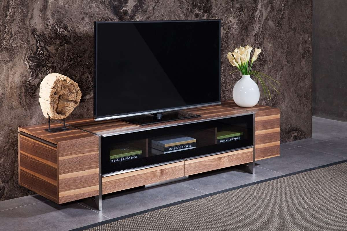 Domus Lorena Modern Walnut Tv Stand Throughout Modern Walnut Tv Stands (View 4 of 15)