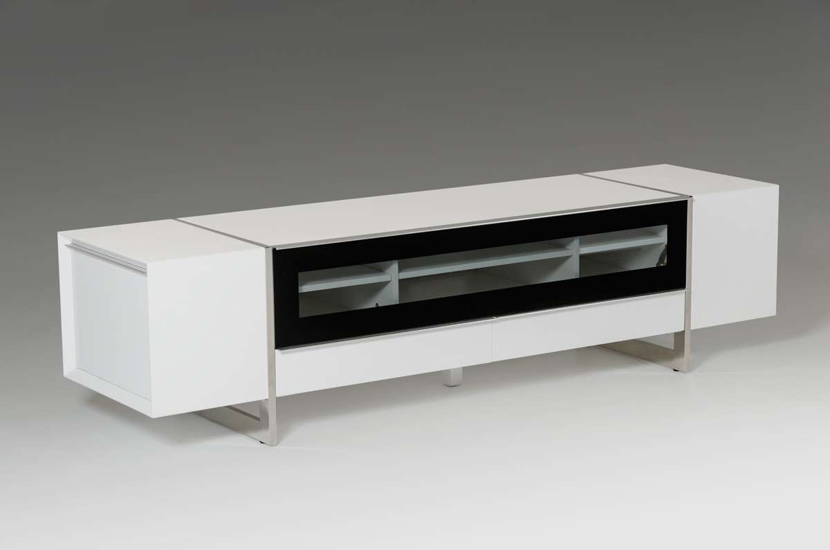 Domus Lorena Modern White Tv Stand Pertaining To Modern White Lacquer Tv Stands (View 6 of 15)