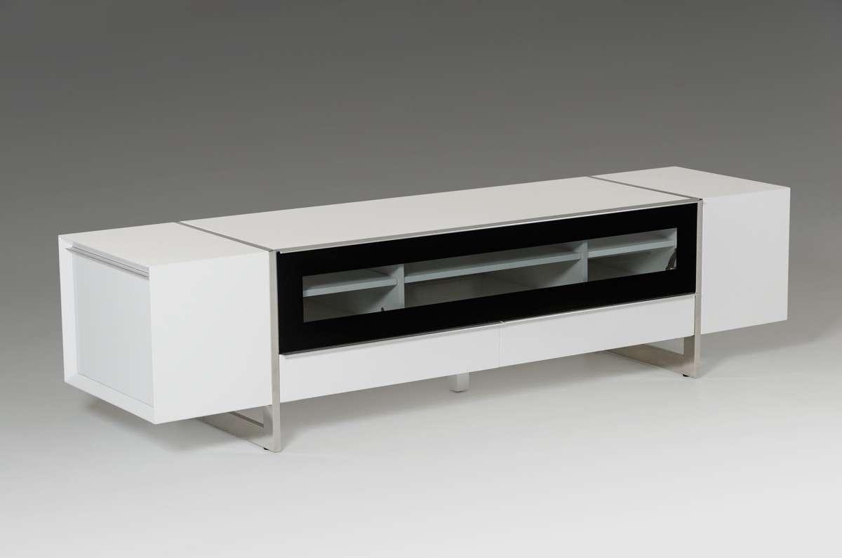 Domus Lorena Modern White Tv Stand Pertaining To Modern White Tv Stands (View 12 of 15)