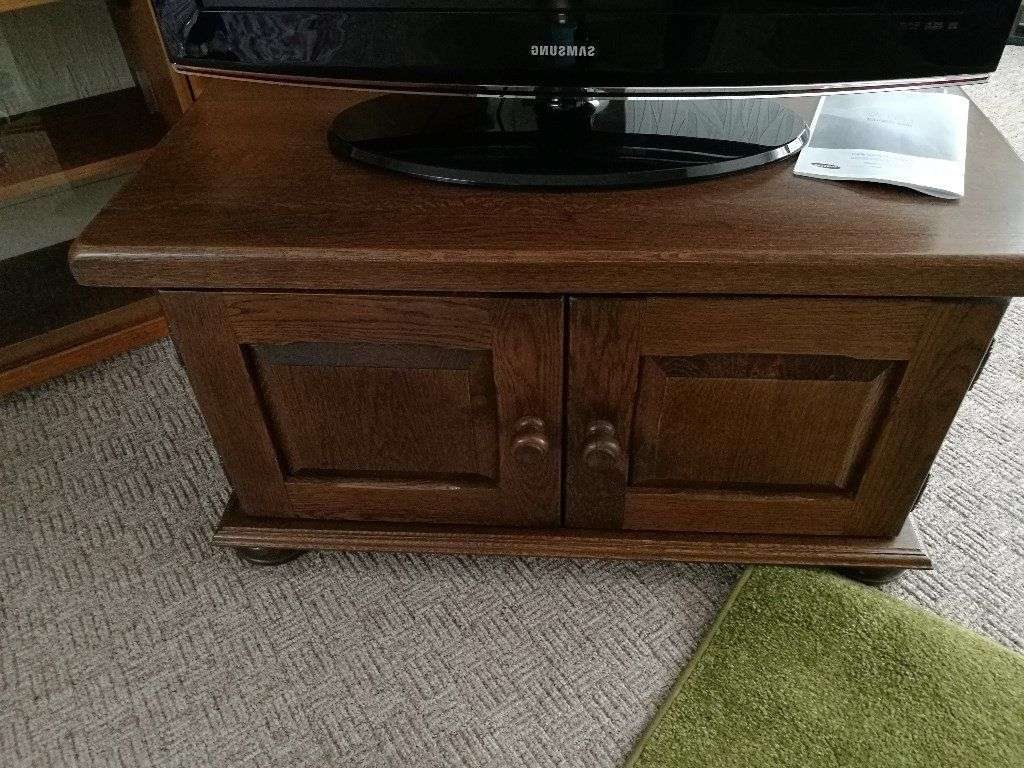Dutch Solid Dark Oak Tv Cabinet Cupboard Display Unit Tv Stand Intended For Dark Wood Tv Stands (View 9 of 20)
