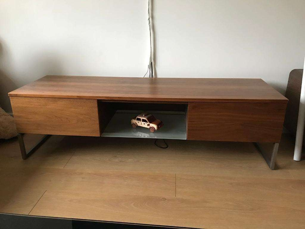 Dwell Walnut Tv Unit Tv Stand With Storage Draws & Shef | In In Dwell Tv Stands (View 14 of 15)