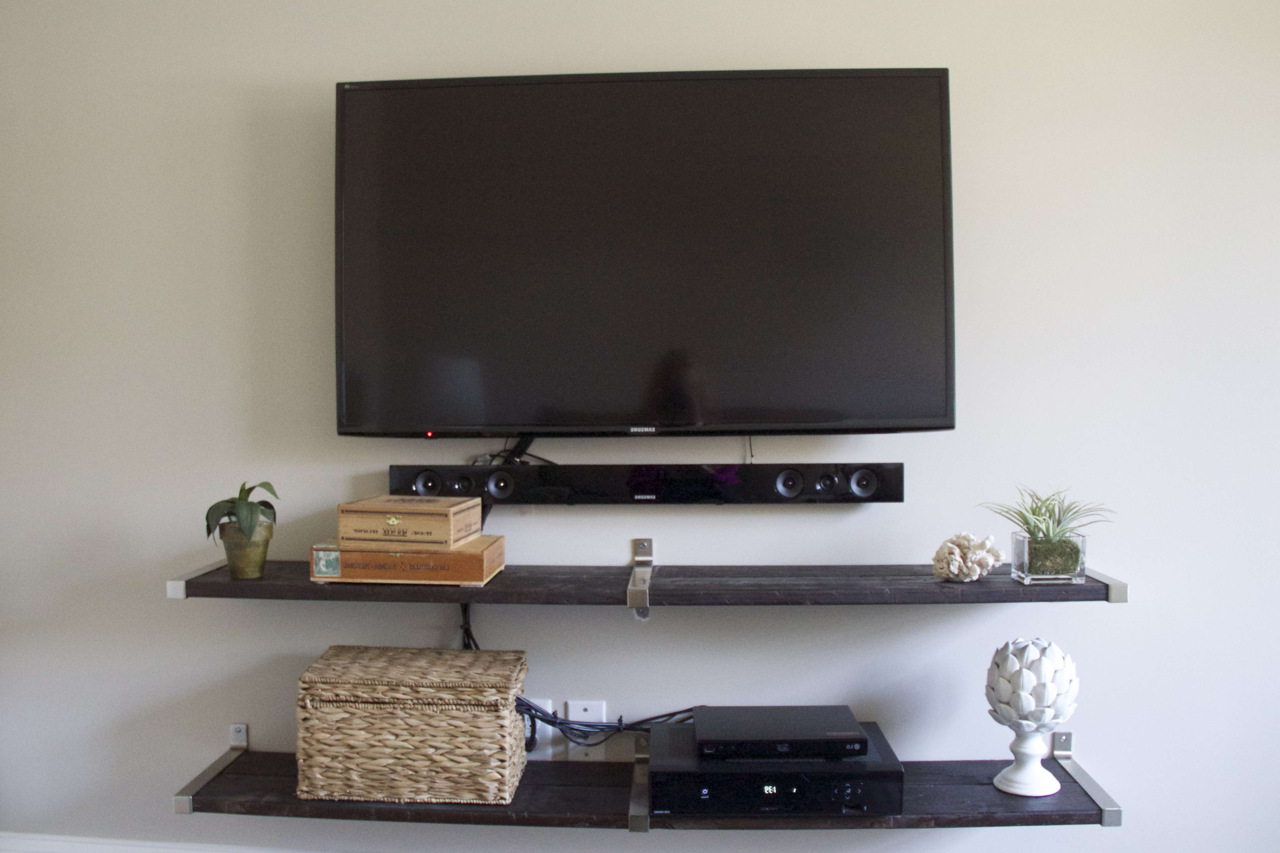 ✓ Furniture Wall Mount Tv Stand For Large Flat Screen With Within Stylish Tv Stands (View 1 of 15)