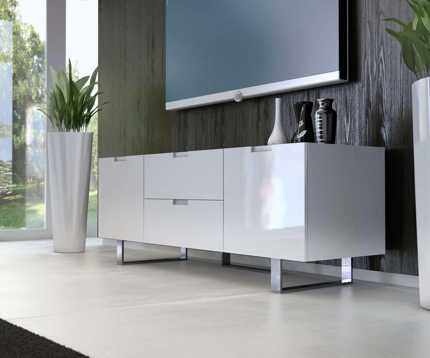 Eldridge Tv Standmodloft Buy From Nova Interiors Contemporary Pertaining To Modern White Lacquer Tv Stands (View 7 of 15)