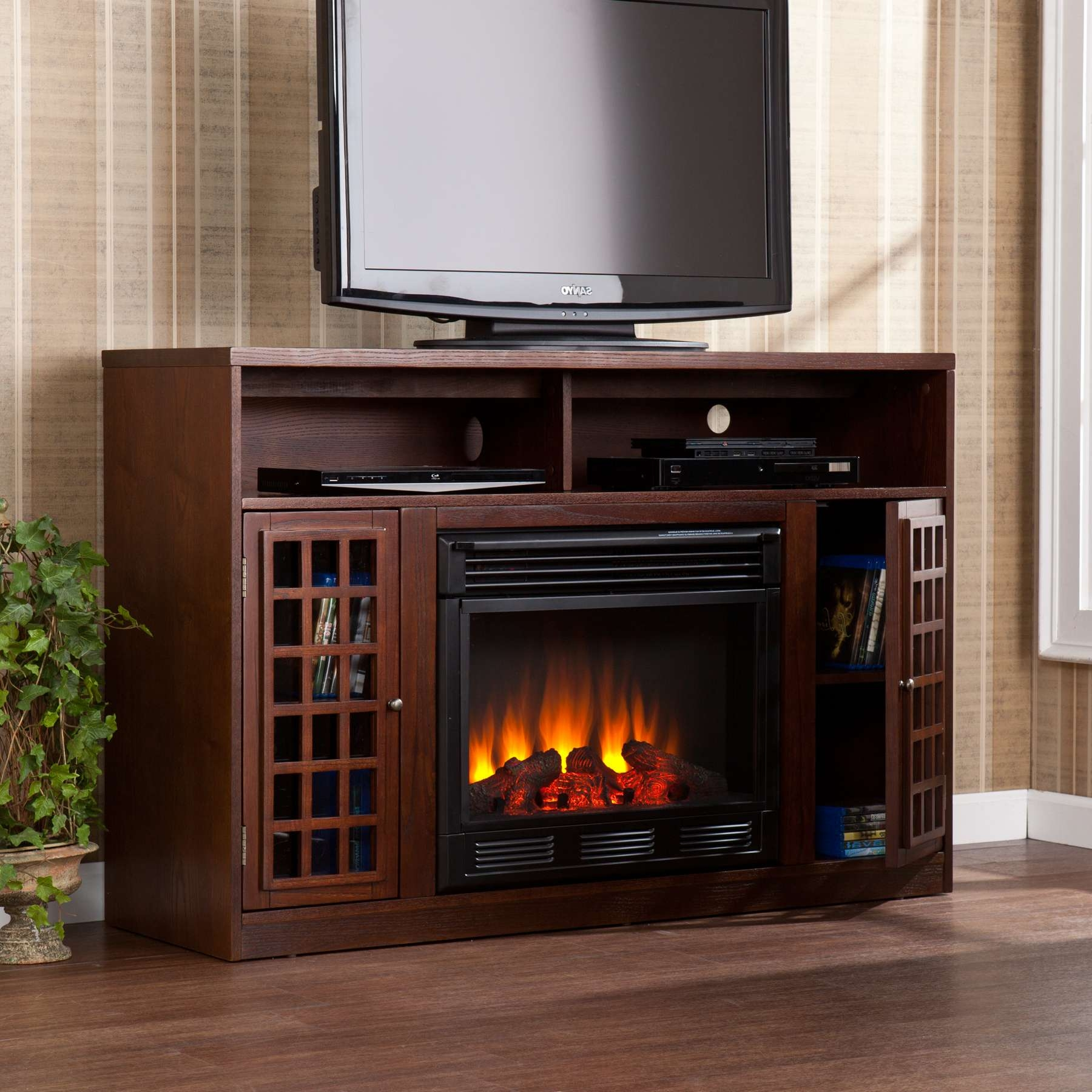 Electric Corner Fireplace Heater Inspirations Beautiful Tv Stand Inside 50 Inch Fireplace Tv Stands (View 9 of 15)