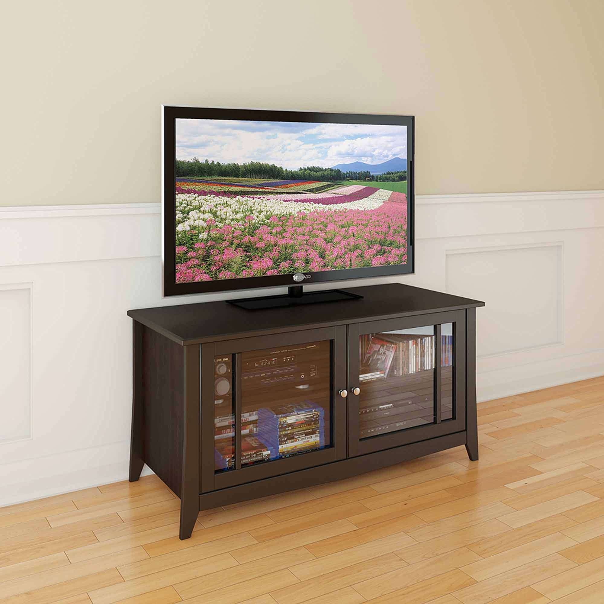 """Elegance Espresso Tv Stand, For Tvs Up To 55"""" – Walmart Throughout Expresso Tv Stands (View 8 of 15)"""