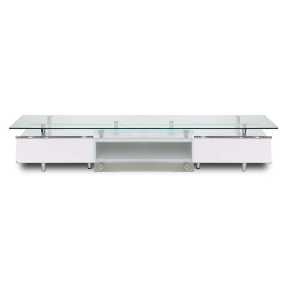 Ema High Gloss White Tv Stand, White Line Imports – Modern Manhattan Regarding Glossy White Tv Stands (View 2 of 15)
