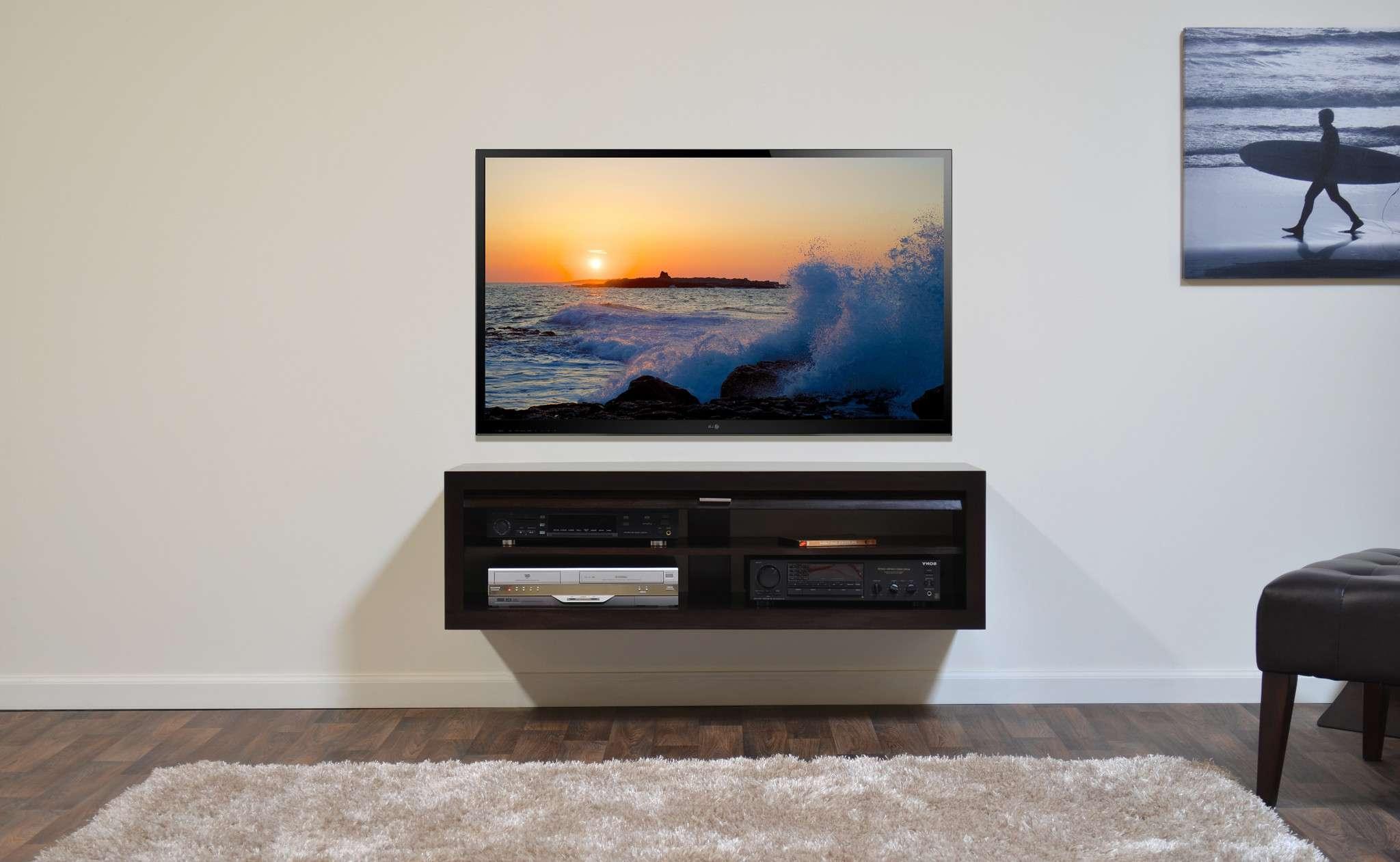 Enchanting Floating Media Shelves Floating Media Shelf Home Design Pertaining To Single Shelf Tv Stands (Gallery 1 of 20)