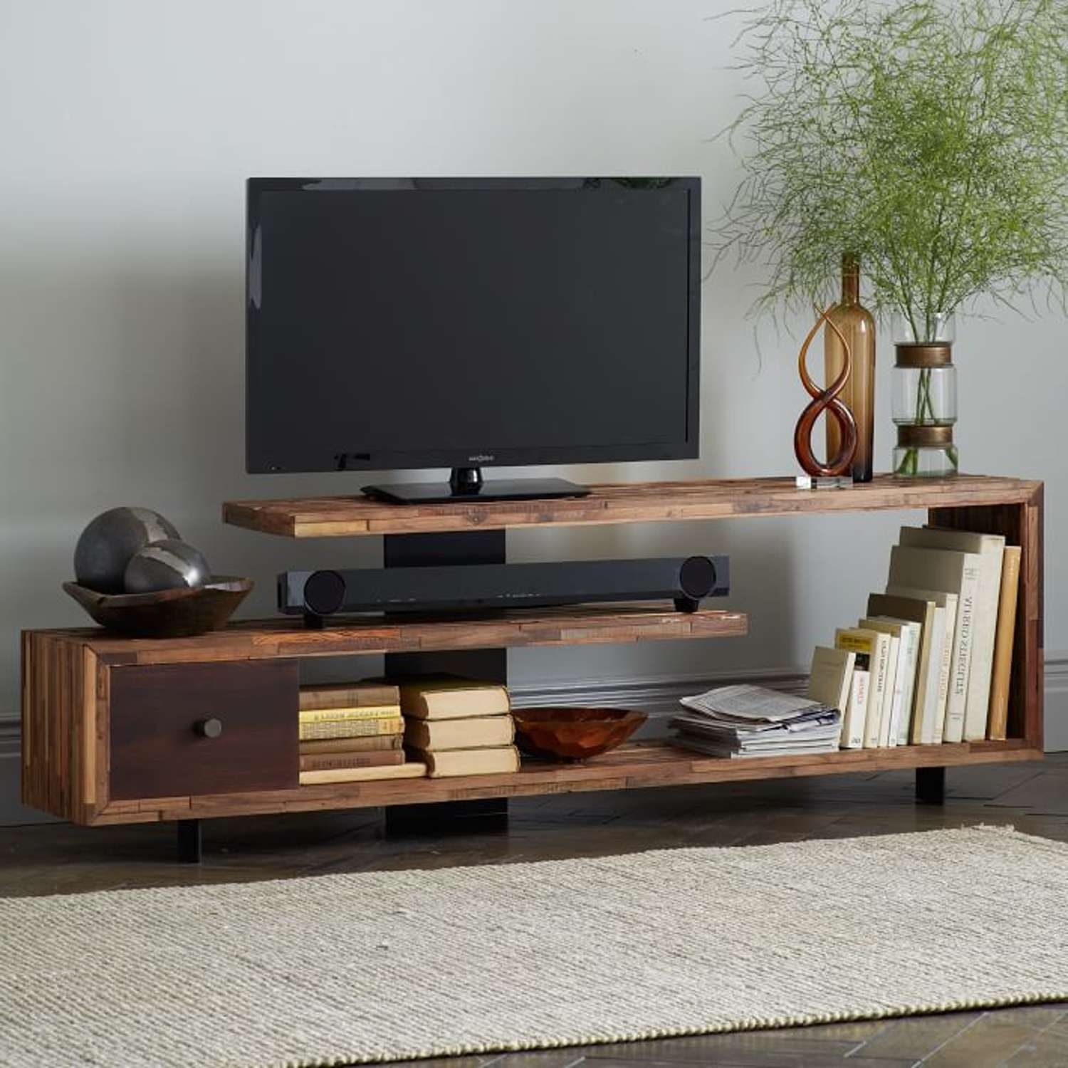 Encouragement Storage Home Design Ideas Along With Storage Wooden Throughout Contemporary Wood Tv Stands (View 4 of 15)