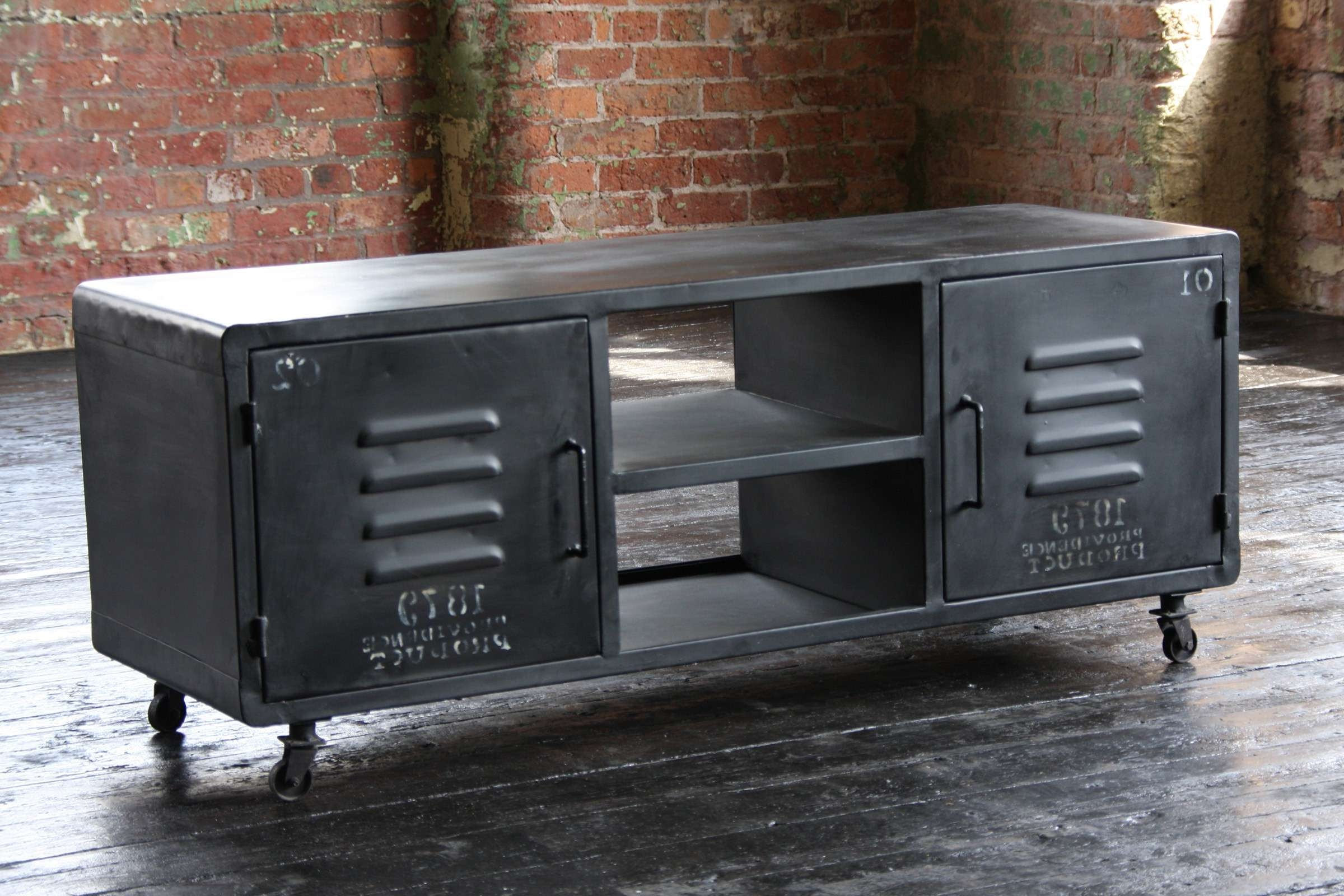 Entertainer Industrial Tv Cabinet With Industrial Tv Cabinets (Gallery 2 of 20)