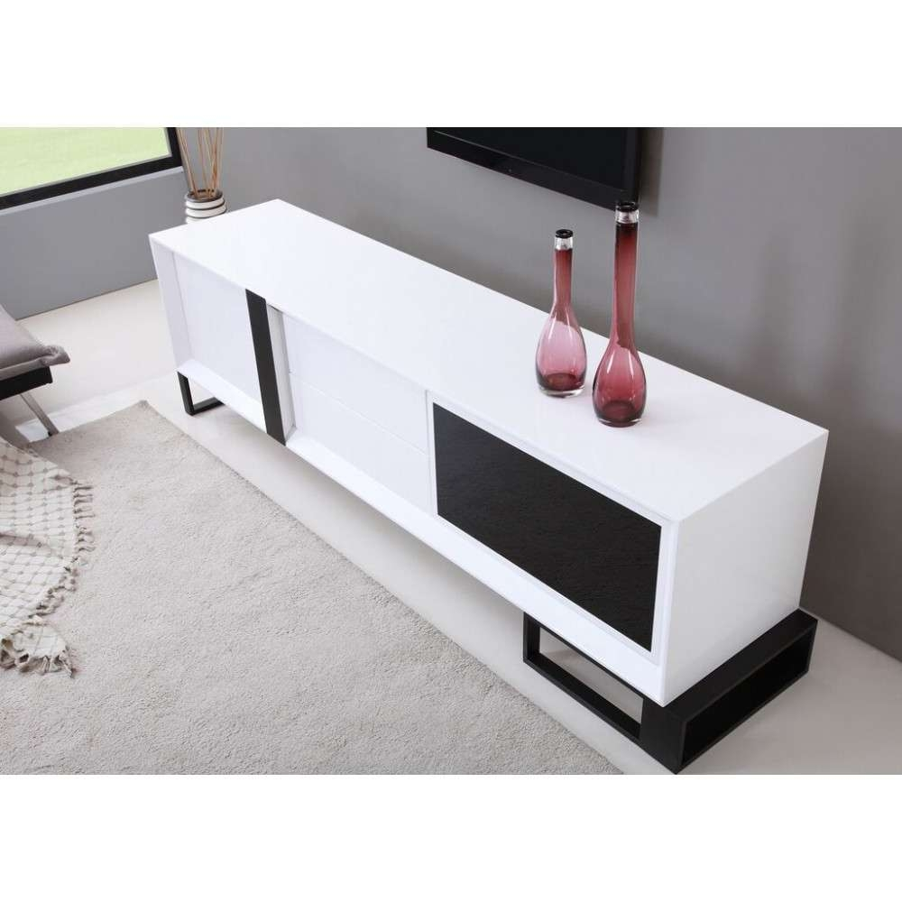 Entertainer Tv Stand | High Gloss White, B Modern – Modern Manhattan With High Gloss White Tv Stands (View 3 of 15)