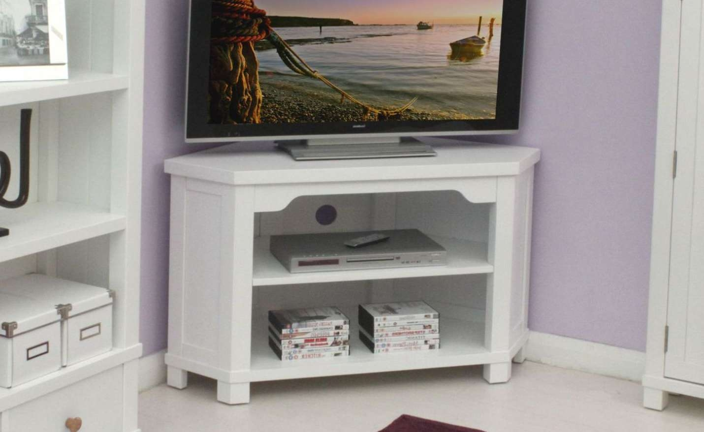 Enthrall 24 Inch Corner Tv Stands Tags : 24 Inch Corner Tv Stands Throughout Off White Corner Tv Stands (View 10 of 15)
