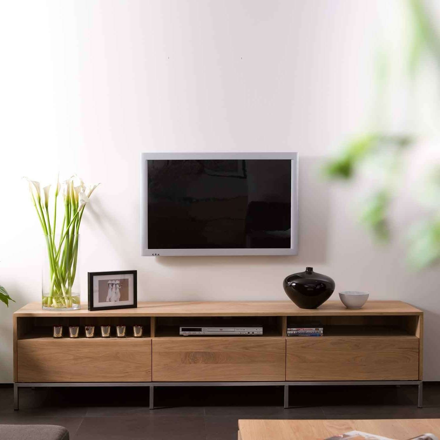 Ethnicraft Ligna Oak Tv Units | Solid Wood Furniture Pertaining To Contemporary Oak Tv Stands (View 3 of 15)