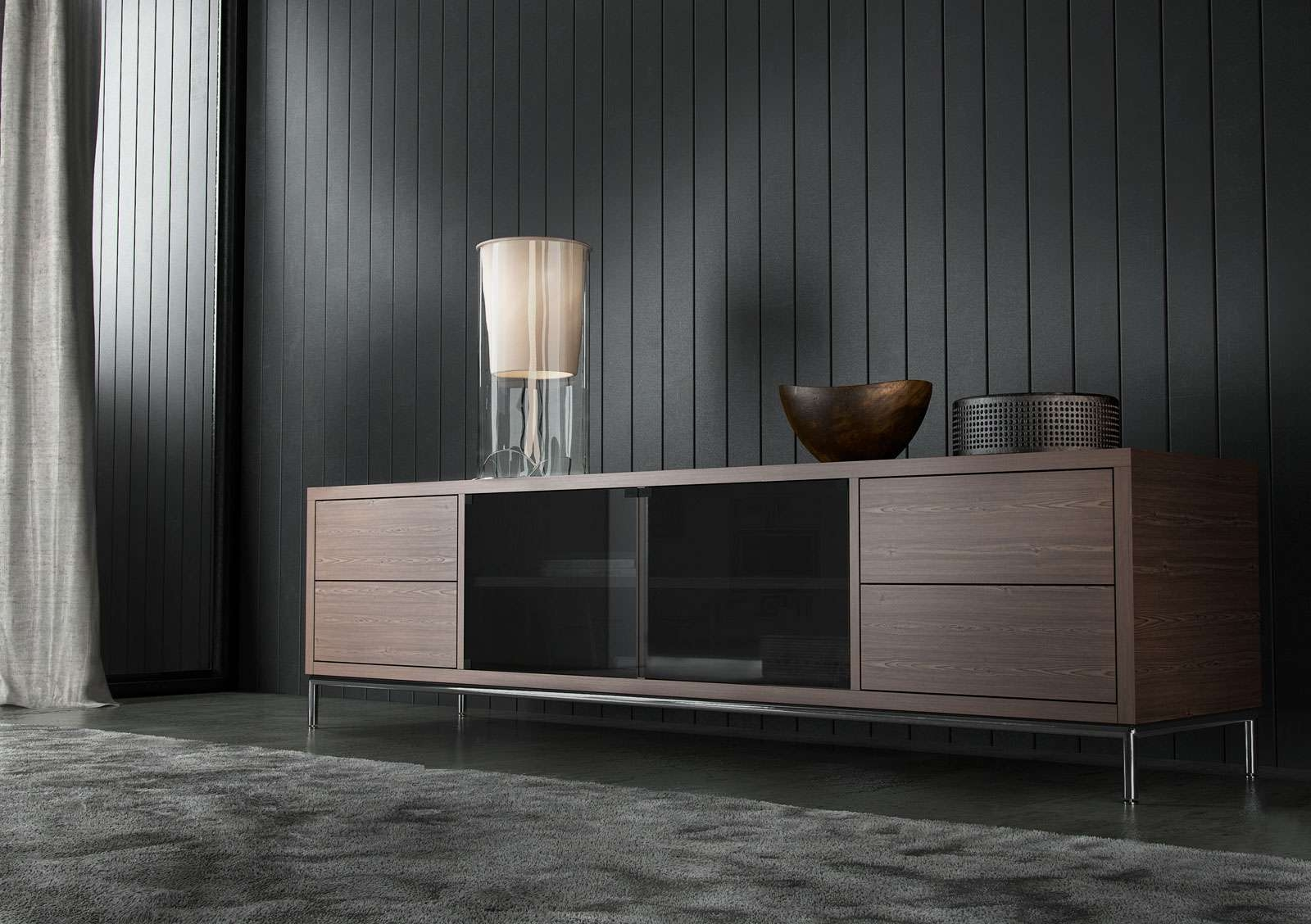 Extra Long Contemporary Tv Entertainment Unit With Storage San Inside Long Tv Cabinets Furniture (View 12 of 20)