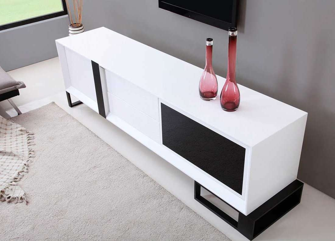 Extra Long Modern White Tv Stand Bm 36 | Tv Stands With Extra Long Tv Stands (View 6 of 15)
