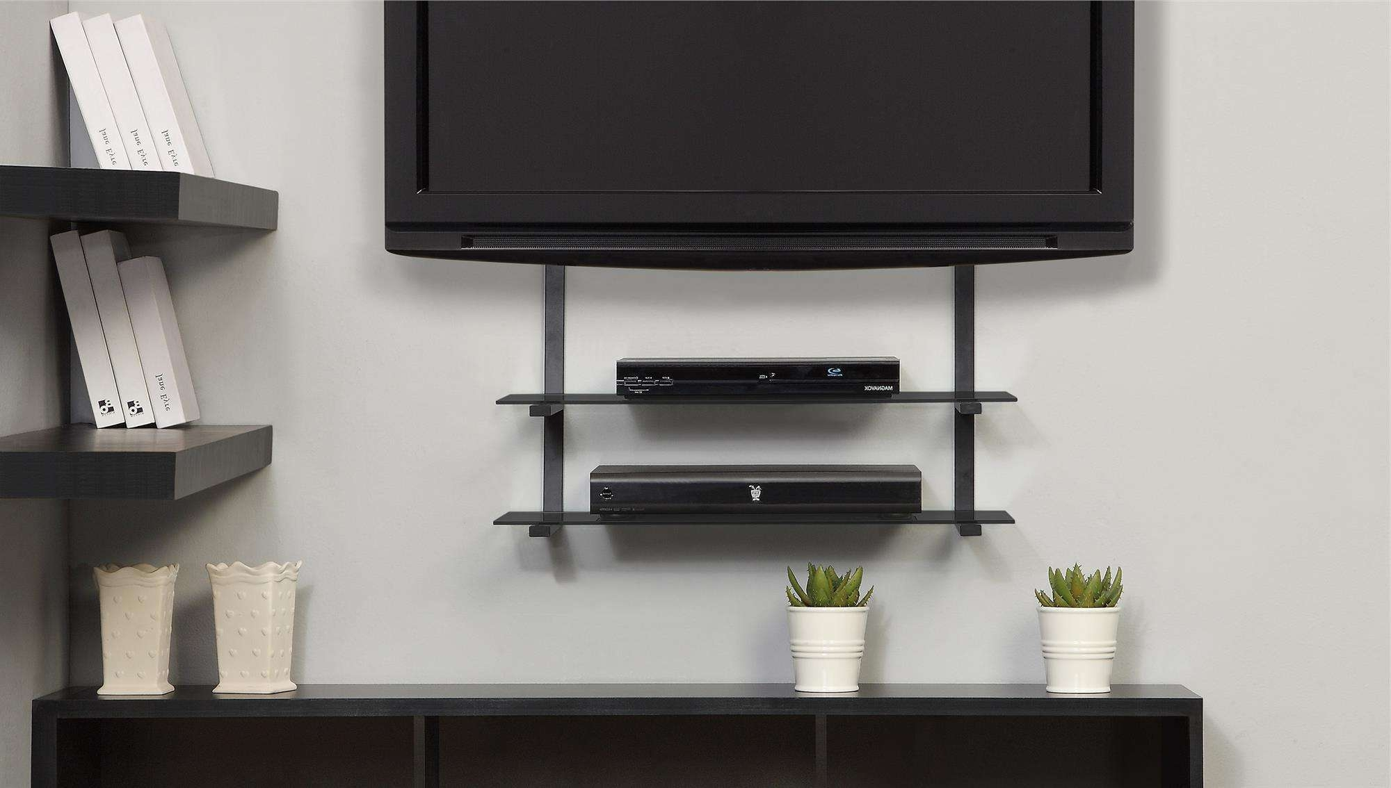 Extraordinary Ideas Tv Wall Mount Shelves Impressive Decoration With Regard To Wall Mounted Tv Stands With Shelves (View 9 of 15)