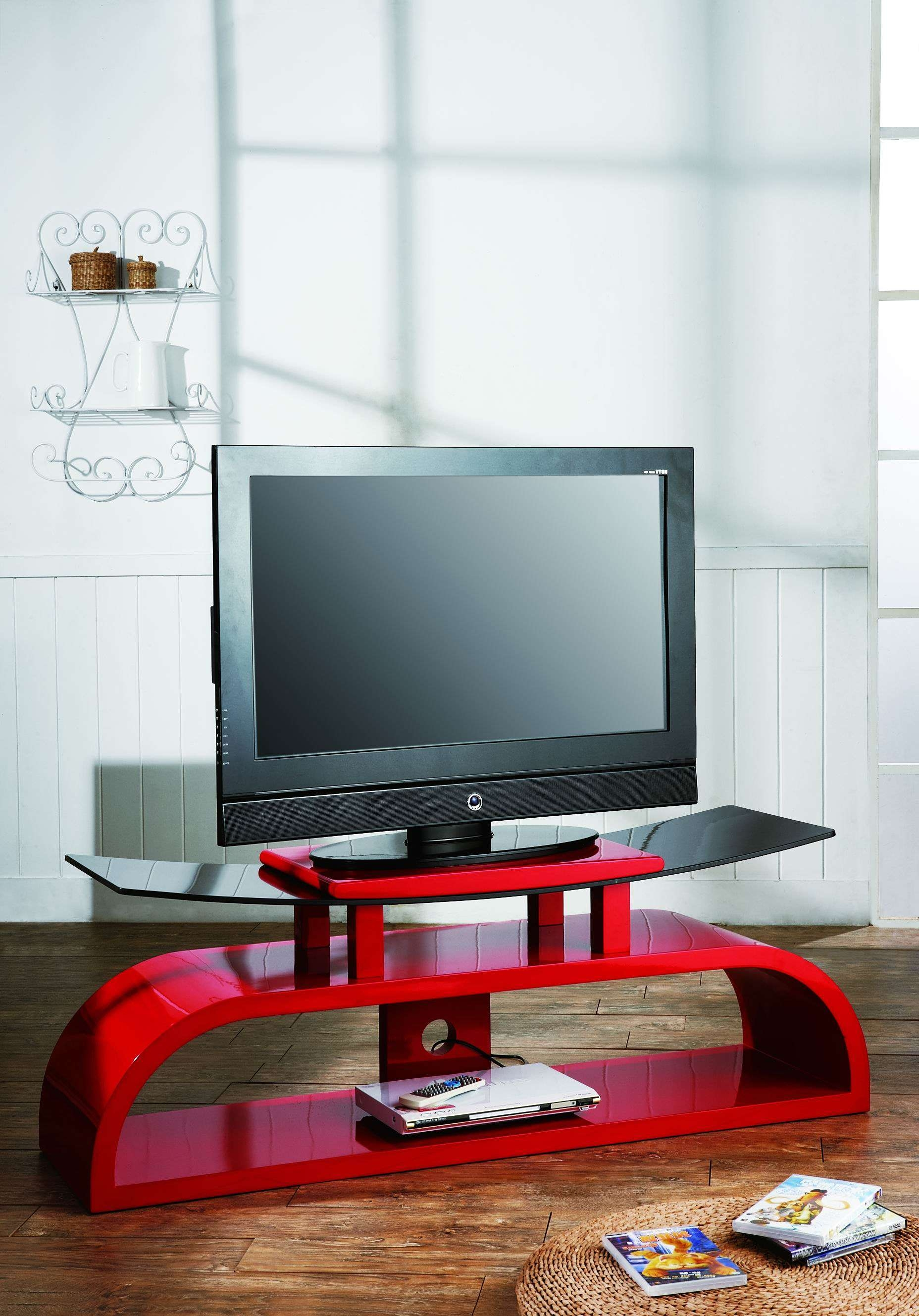 Famed Glass Red 1100Mm 5192 P[Ekm]1000X999[Ekm] Also Norstone Esse With Red Gloss Tv Stands (View 3 of 15)